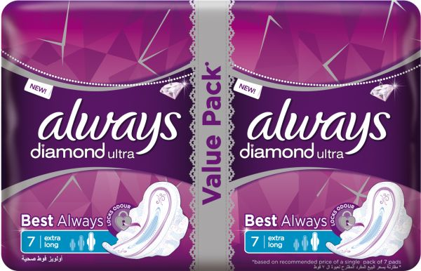 ALWAYS DIAMOND VALUE PACK EXTRA LONG