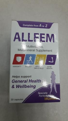 allfem multivitamins and multi minerals supplements