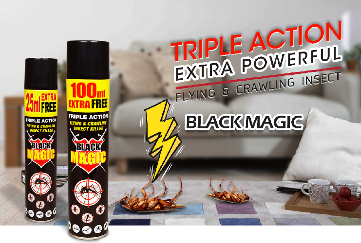 Black Magic Triple Action Flying & Crawling Insect Killer